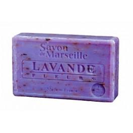 Marseillezeep met lavendelbloemen - 100 gr